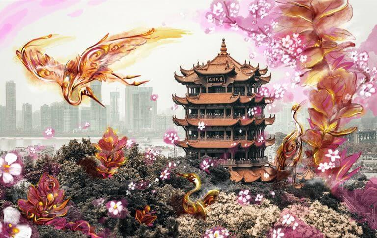 一起战疫,公益涂鸦计划「桥头樱花节」正式启动